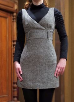 Pimkie Brand Winter Autumn Office Casual Dress Sarafan Work Grey M S 38 36 #Pimkie
