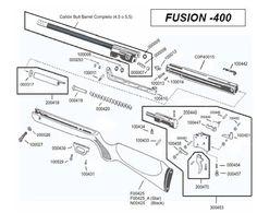 Parts breakdown. Cometa Fusion 400 airgun