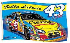 Bobby LaBonte #43 Cheerios Dodge Charger 3'x5' Racing Flag w/free shipping