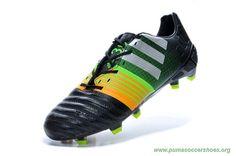 Cheap ADIDAS Nitrocharge 30 FG Black Green Yellow Mens