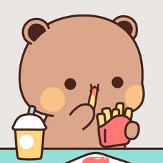 Cute Couple Cartoon, Cute Cartoon Pictures, Cute Love Cartoons, Cute Images, Cute Bear Drawings, Cute Cartoon Drawings, Kawaii Drawings, Chibi Cat, Cute Chibi