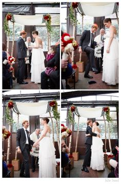 Smashing the glass and making it official: Wedding Photography in Brooklyn by Julie Saad Photography