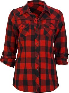 Women Red Plaid Shirt 2017 Spring Autumn Women Clothing Long ...