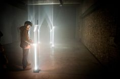 'Arcades' is an installation that emphasises the sculptural qualities of pillars of light, first shown as a site-specific work at Buda Tower, Kortrijk. Arcade, Landscape Photography, Tower, Sculpture, Van, Lighting, Awesome, Google, Party