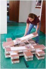 Project Guide: Installing Laminate Flooring at The Home Depot - Tablet Installing Laminate Flooring, Diy Flooring, Laminate Installation, Tile Floor, Diy Home Decor, Tiles, Projects To Try, House, Rugs