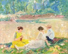 Albert H. Krehbiel (USA 1873-1945) Summer Repose (c. 1917)oil on canvas 14 x 17 in.