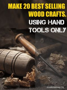 20 High Selling Wood Crafts You Can Make With Just Hand Tools (With Plans) - WoodWorking Plans Woodworking Furniture Plans, Woodworking Hand Tools, Woodworking Projects That Sell, Woodworking Shop, Woodworking Crafts, Woodworking Inspiration, Unique Woodworking, Woodworking Classes, Popular Woodworking