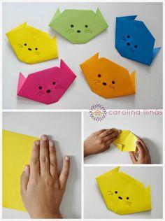 gatos en origami