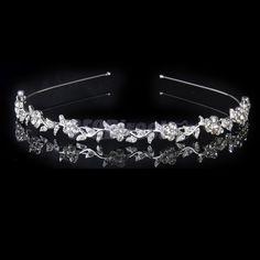 Diamante Flower Leaf Headband Hair Band Bridal Bridesmaid Wedding Prom Tiara
