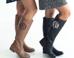 Monogram boots/monogram brown boots/black boots/personalize ladies boots/ladies boots by sewsassybootique on Etsy Brown Boots, Black Boots, Monogram Boots, Riding Boots Fashion, Cute Shoes, Lady, Shoe Boots, Ladies Boots, Trending Outfits