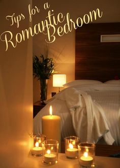 Tips for a Romantic Bedroom - Make your bedroom a sanctuary for you and your spouse to getaway! #marriage