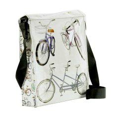 Bicycles Messenger Bag - Flower Pedal - Bike Messenger Bag