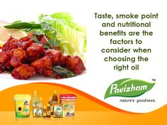 Taste, smoke point and nutritional benefits are all factors to consider when choosing the right oil.  visit our site : http://pavizhamoils.com/  #Pavizhamoils #PavizhamSammanamazha #Pavizham — at Pavizham Oils.