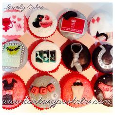 Cupcakes Cincuenta sombras de Grey