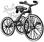 STAMPERS BEST Tricycle Rubber Stamp