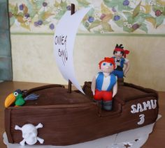 Jack and the Neverland pirates cake by Nilla Hautasaari