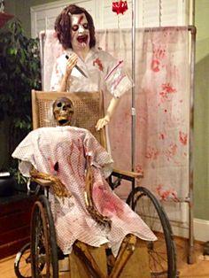 Forum member: The Halloween Lady Asylum: nurse and patient.