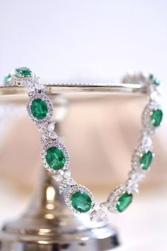 Emerald and diamond necklace with over 38 carats of emeralds and 16 carats of diamonds