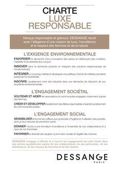 charte du luxe responsable - Dessange