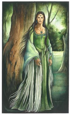 robe verte / green dress - Ebe Kastein (Tolkien's caracter Rien)