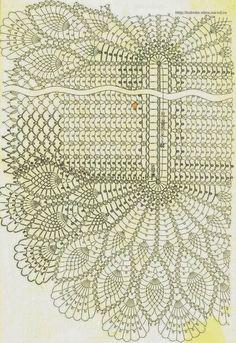 Centro de Mesa em Crochet Abacaxi 02 - Gráfico - Claudineia Antunes