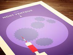 MONT VENTOUX | Silkscreen print
