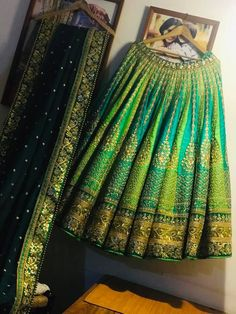 Lehenga Choli Designs, Indian Bridal Outfits, Indian Designer Outfits, Indian Dresses, Designer Dresses, Indian Lehenga, Bridal Lehenga Collection, Half Saree Designs, Wedding Dresses For Girls