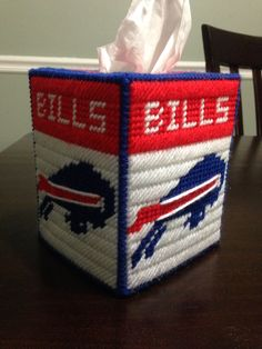 Buffalo Bills plastic canvas tissue box holder