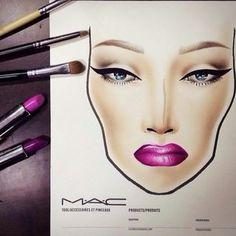 Blank Mac Face Charts Printable   Makeup !!!!   Pinterest ...