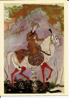 Postcard- Prince- Illustration for fairy-tale - Vintage Russian - Artist V. Serov