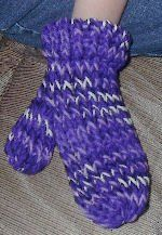 Lovely loomed mittens