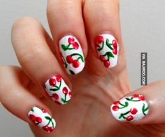 cherry nails art amazing Amazing fruit nail art (28 Photos)