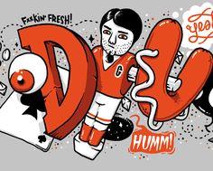 Typographic work #3 by sebastien CUYPERS, via Behance