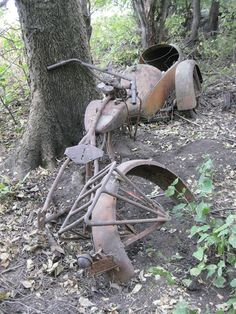 Old Indian m/c remnants -