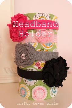 Crafty Texas Girls: Crafty How To: Headband Holder