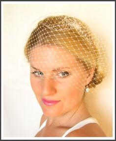 birdcage blusher veil