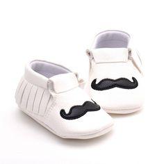 Leather Moustache Shoes