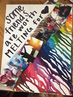 Present for one of my best friends! I did a crayon melt with pictures of us over…