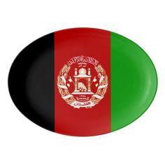 Patriotic Afghan Flag Porcelain Serving Platter - kitchen gifts diy ideas decor special unique individual customized