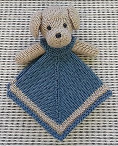MORE Mini Lovey Blankie Menagerie Knitting pattern by Rainebo Christmas Knitting Patterns, Baby Knitting Patterns, Crochet Patterns, Crochet Lovey, Crochet Toys, Knitting Projects, Crochet Projects, Mini Puppies, Dou Dou