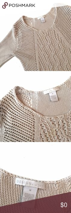 Design History Knit Sweater D E S I G N  H I S T O R Y  S W E A T E R  Worn once, no tears, no stains     † sz: medium    † color: cream  ⠀† condition: like new   disclaimer:   ✗ i do not trade  ⠀✗ no lowballing ⠀   ✓ i'm open to reasonable offers ⠀   ✓ you save 20% when you bundle    follow me on instagram @moorrgannn_ Design History Sweaters Crew & Scoop Necks