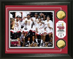2013 NBA Champions Miami Heat Celebration Photo Mint $99.99 Click image to buy. #MiamiHeat #NBA #Basketball