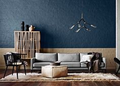 View Dulux's recent paint colour trends which will complement the interior and exterior of your home. These colours will encourage you to be brave and experience unique looks in your home. Interior Architecture, Interior And Exterior, Interior Design, Decoration Gris, Trending Paint Colors, Blue Walls, Color Walls, Room Paint, Elle Decor