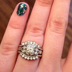 dream come true! #engaged #ring #vintage