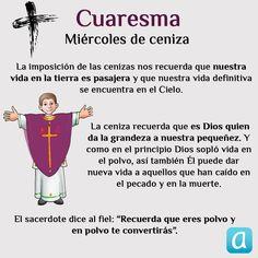 Te explicamos el sentido de la imposición de la ceniza. Catholic Catechism, Catholic Prayers, Catechist, Holy Week, Dear God, Lent, Christian Life, Gods Love, Christianity