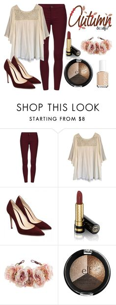 """""""Autumn Beautiful"""" by shiann-styles on Polyvore featuring Haute Hippie, Gucci, Rock 'N Rose and Essie"""
