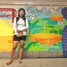 Wall of graffitti