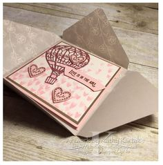 """Faithful INKspirations: Love Is in the Air is made with Stampin' Up's """"Lift Me Up"""" stamp set and framelit bundle."""