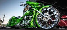 Big Wheel Green Machine by VooDoo BikeWorks Big Wheel, Baggers, Voodoo, Motorcycles, Cars, Vehicles, Green, Ferris Wheel, Biking