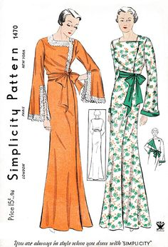 1930s 30s vintage lingerie sewing pattern reproduction // wrap